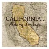 Story California Reproduction d'art par Tina Carlson