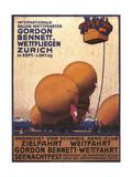 NY Herald Gordon Bennet Trophy Organizes Annual Contest  Spherical Balloons  Shown Swiss Helvetia