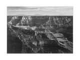 """Broad View With Detail Of Canyon Horizon And Mountains Above """"Grand Canyon NP"""" Arizona 1933-1942"""