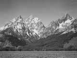 "Grassy Valley Tree Covered Mt Side And Snow Covered Peaks Grand ""Teton NP"" Wyoming 1933-1942"