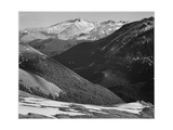 "Close In View Dark Shadowed Hills In Fgnd Mts In Bkgd ""Long's Peak Rocky Mt NP"" Colorado 1933-1942"