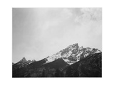 "Snow Covered Peak ""In [Grand] Teton National Park"" Wyoming  Geology  Geological 1933-1942"
