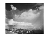 "Mt Tops Low Horizon Dramatic Clouded Sky ""In Rocky Mountain National Park"" Colorado 1933-1942"