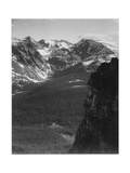 "View Of Snow-Capped Mt Timbered Area Below ""In Rocky Mountain National Park"" Colorado 1933-1942"