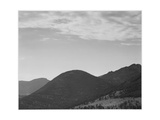 "View Of Hill With Trees Clouded Sky ""In Rocky Mountain National Park"" Colorado 1933-1942"