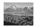 "View Across River Valley Toward ""Mount Moran"" Grand Teton  National Park Wyoming 1933-1942"