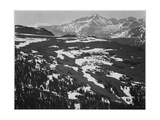 "View Of Plateau Snow Covered Mountain In Bkgd ""Long's Peak Rocky Mountain NP"" Colorado 1933-1942"