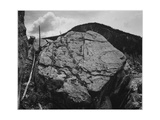 "Boulder With Hill In Bkgd ""Rocks At Silver Gate Yellowstone NP"" Wyoming 1933-1942"
