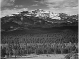 "Trees Fgnd  Snow Covered Mts Bkgd ""Long's Peak From North Rocky Mountain NP"" Colorado 1933-1942"