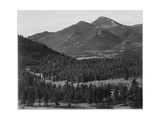 "View With Trees In Foreground Barren Mountains In Bkgd ""In Rocky Mountain NP"" Colorado 1933-1942"