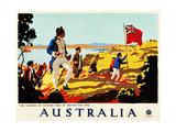 The Landing Of Captain Cook At Botany Bay  1770