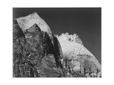 "Rock Formation Against Dark Sky ""Zion National Park 1941"" Utah 1941"