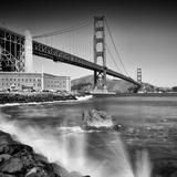 Golden Gate Bridge With Breakers Reproduction d'art par Melanie Viola