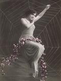 Woman In Spider Web Reproduction d'art par Found Image Press