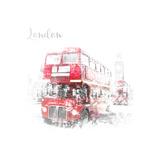 London Westminster Street Scene Reproduction d'art par Melanie Viola