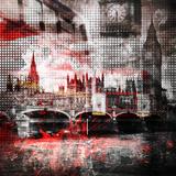 London Red Bus Composing Reproduction d'art par Melanie Viola