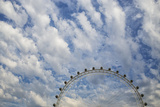Artistic View Of The London Eye With Clouds And Blue Sky