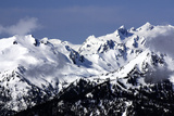 Snowy Olympic Mountains