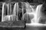 Sunset Waterfall I BW