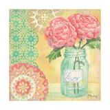 Vintage Glass Floral I