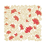 Decorative Floral Composition with Pomegranate Flowers