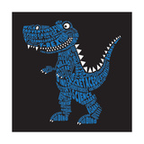 Dinosaur Illustration  Typography  T-Shirt Graphics  Vectors
