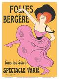Folies Bergère - Paris  France - Every Evening a Varied Show (Tous les soirs spectacle varié)
