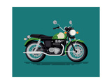 Cool Vector Classic Design Street Cruiser Motorcycle in Trendy Flat Design  Isolated Classic Retro
