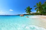 Anse Lazio Beach at Praslin Island  Seychelles