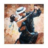 Tango Dancers Digital Painting  Tango Dancers