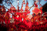 Wish Cards in a Buddhist Temple in Beijing  China
