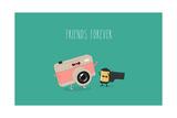Funny Camera and Camera Roll Vector Illustration