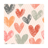 Bright Romantic Seamless Pattern Made of Colorful Hearts in Vector Seamless Pattern Can Be Used Fo