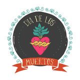 Print - Mexican Heart  Day of the Dead Poster