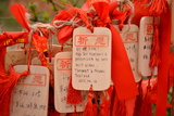 Wish Cards in a Buddhist Temple in Zhongdian   China