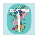 Vector Hand Drawn Floral Monogram with Vintage Amazing Flowers! Letters T Perfect for Backgrounds O