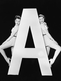Two Women with Huge Letter A