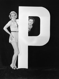 Women with Huge Letter P
