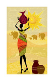 Landscape with an African Woman Decorative