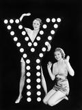 Two Young Women Posing with the Letter Y