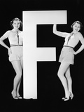 Twins with Huge Letter F