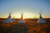 Native North American Tipis at Sunrise on the Plains