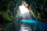 Famous Melissani Lake on Kefalonia Island - Greece