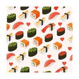 Vector Sushi Menu Template with Philadelphia Roll  California Roll  Sake Nigiri  Tamago Nigiri Isol
