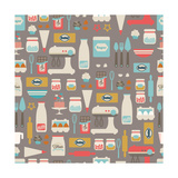 Seamless Vector Pattern Kitchen/Food Background
