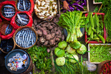 Colorful Fish and Vegetables Can Be Purchased at the Ubud  Bali Public Market in the Cultural Heart
