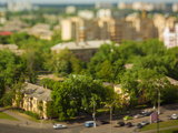 Blurry Tilt-Shift Cityscape Background