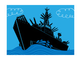 Military Ship with Guns