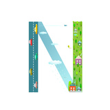Alphabet Letter N Cartoon Flat Style for Kids Fun Alphabet Letter for Children Boys and Girls With