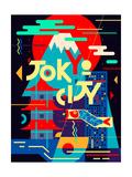Flat Poster Tokyo City